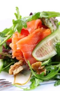 salade met zalm