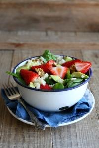 salade met aardbeien